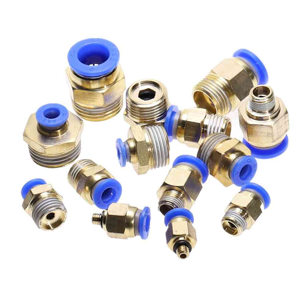 Straight Push In Pneumatic Fitting To Connect Air Compressor Parts