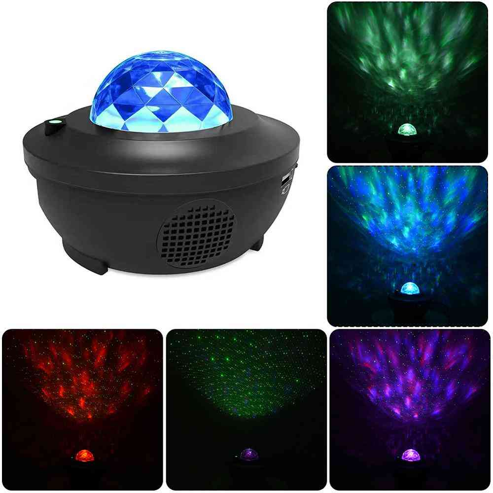 Colorful Starry Sky Galaxy Projector, Blueteeth Usb Music Player