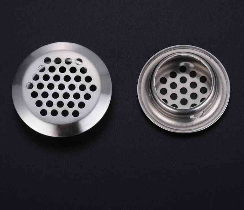 6pcs Of Stainless Steel Convex Surface Type Cabinet Air Vent For Cabinets/ Wardrobe