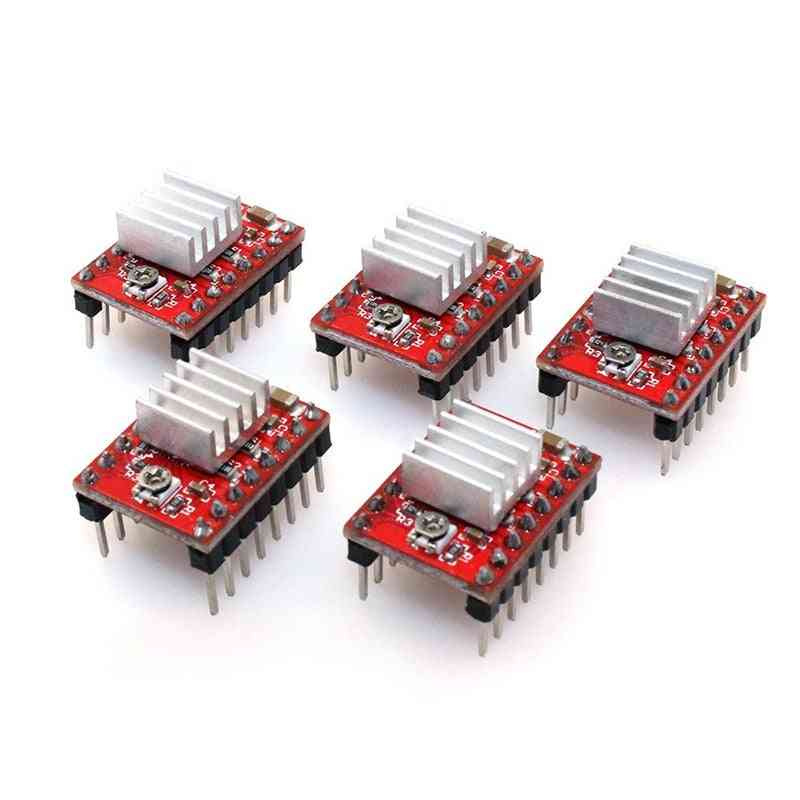 Absf A4988 Compatible Stepper Stepstick Motor Diver Module With Heat Sink For 3d Printer Controller Ramps 1.4