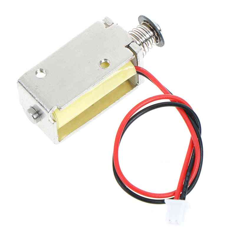 12v Dc Suction Micro Electromagnet Spring Push Pull Type Rod Solenoid Magnet