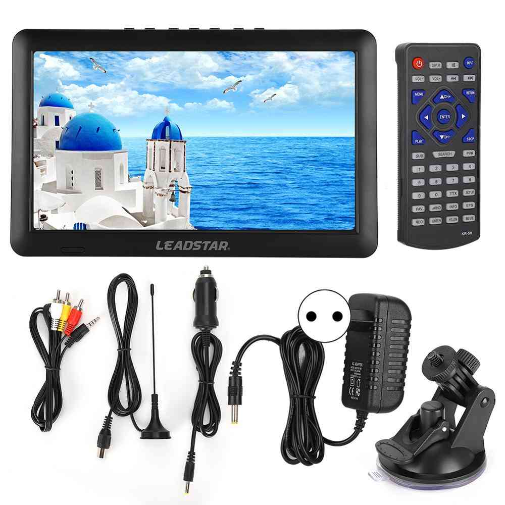 Portable Television - 1080p Hd Digital Analog Tv Car Use With Stand Eu/us/uk Plug