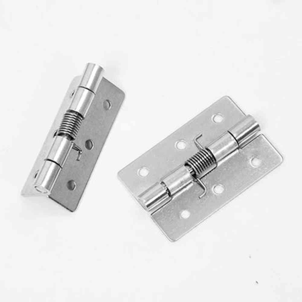 304 Stainless Steel Spring Hinge Automatic Cabinet Door Wardrobe Hardware Accessories - Mini Miniature Hinge