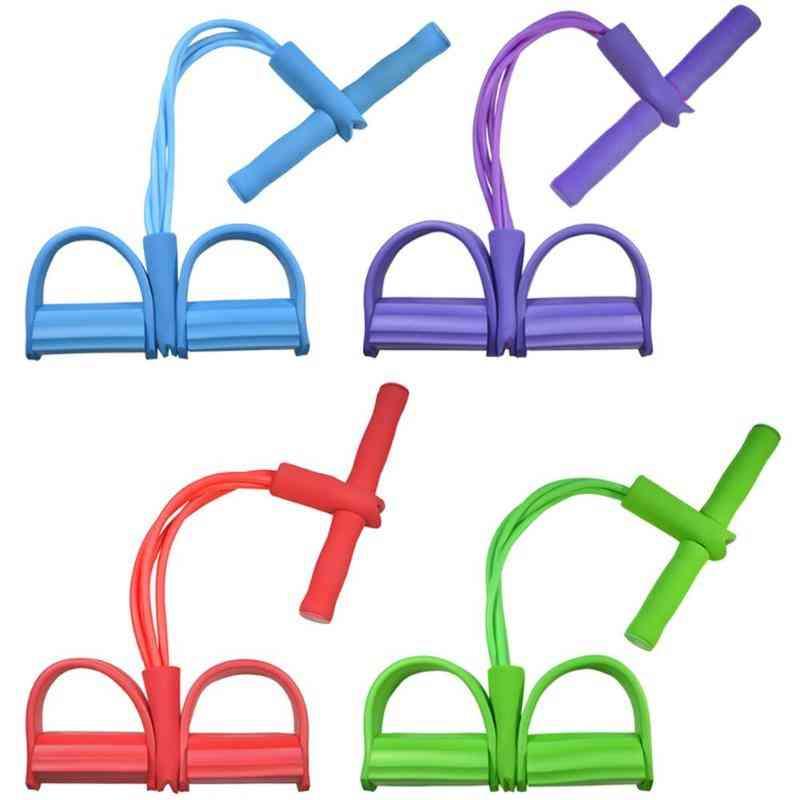 4 Resistanc Elastic Pull Ropes Bands