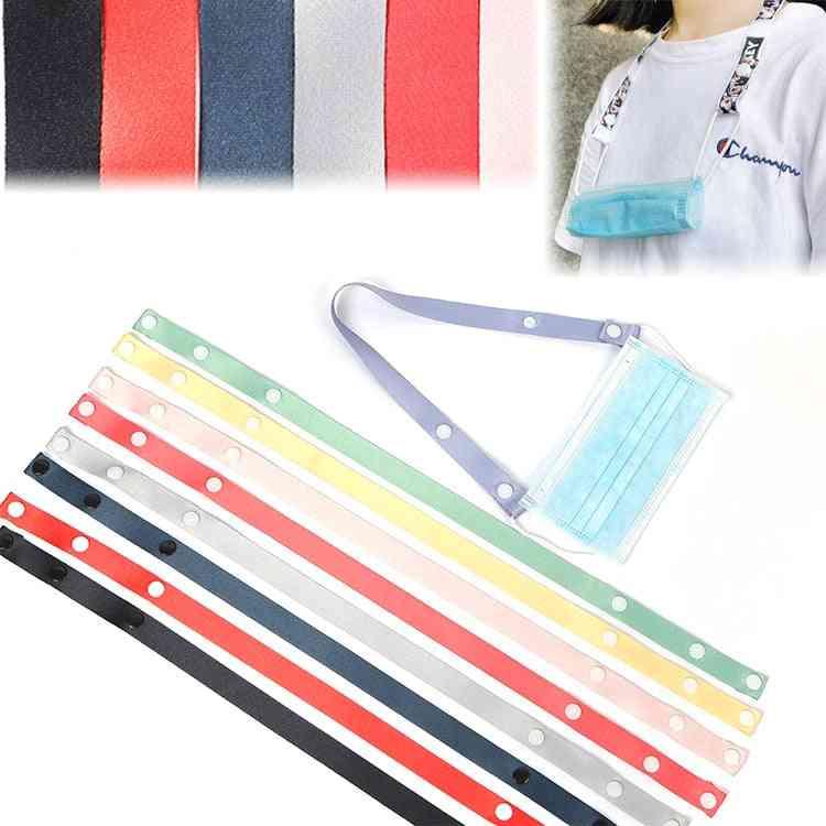 Multicolor, Adjustable, Traceless - Mask Hanging Rope Holder