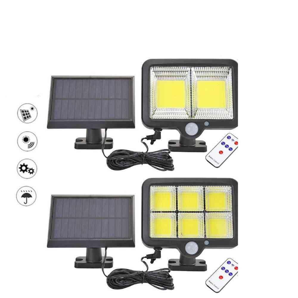 120 Led Cob Solar Light - Outdoor Motion Sensor Wall Lamp