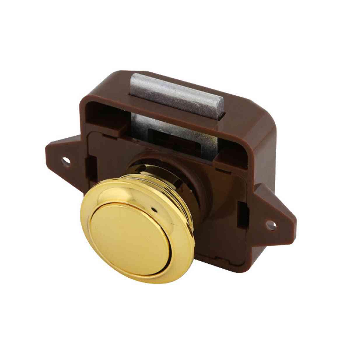 Keyless Push Button Spring Latch  For Rv Yacht Drawer Boat