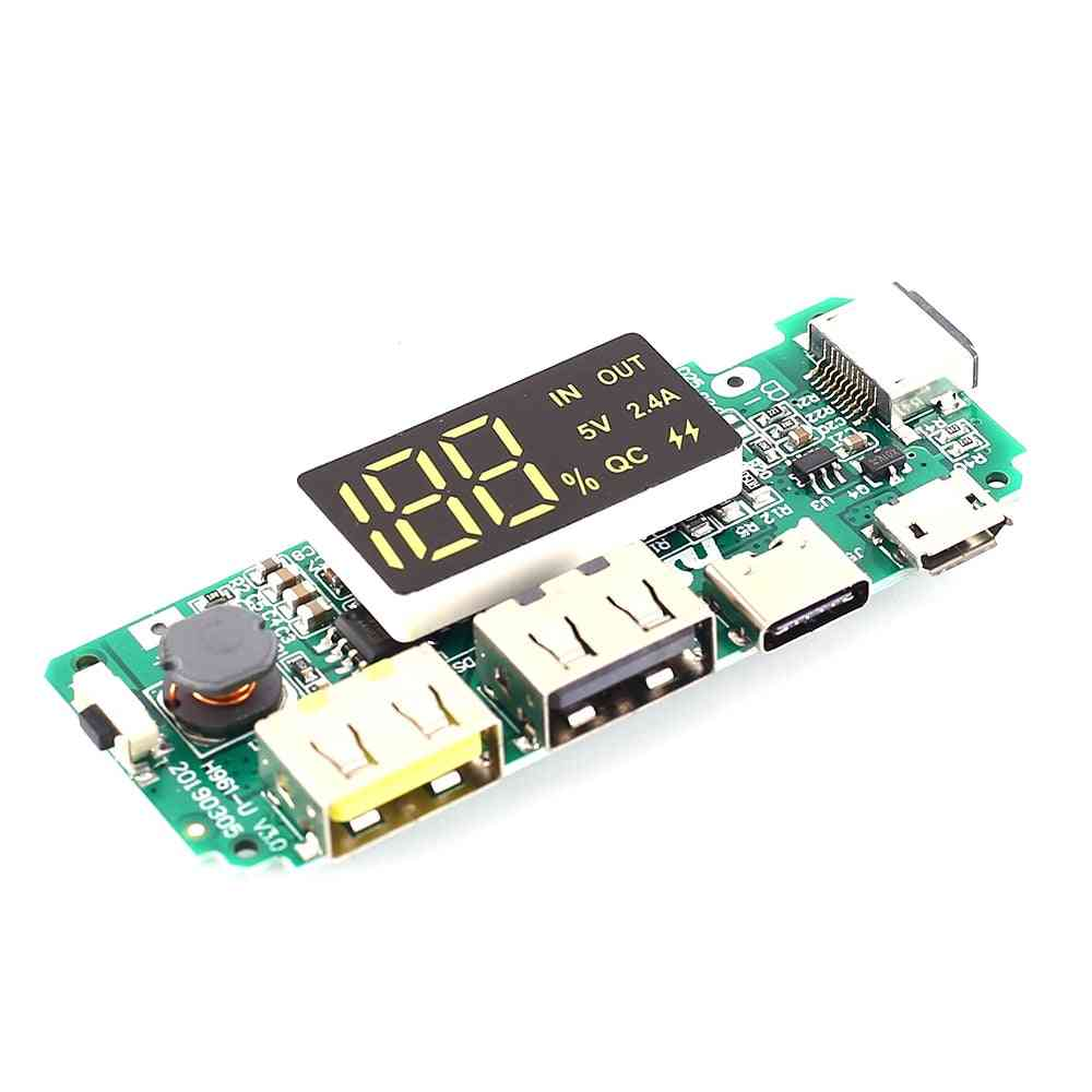 Mobile Power Boost Module, 5v 2.4a Charger Circuit Board