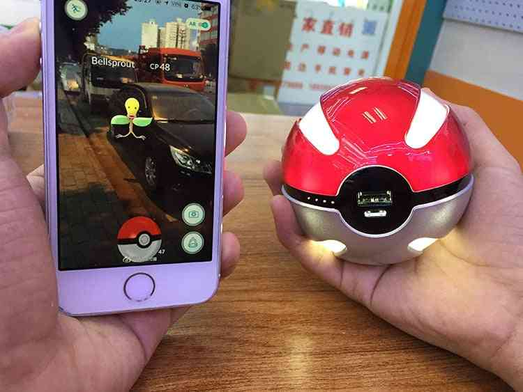 Pokemon Go Red Ball Power Bank With Led Light