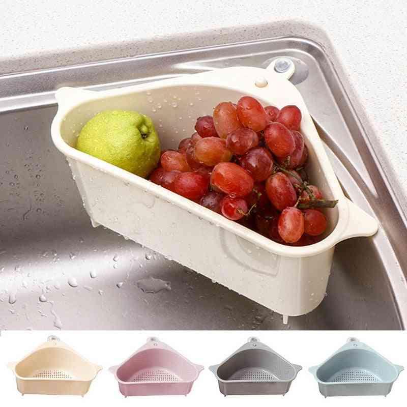 Kitchen Triangular Sink Strainer, Drain Vegetable And  Fruite Basket