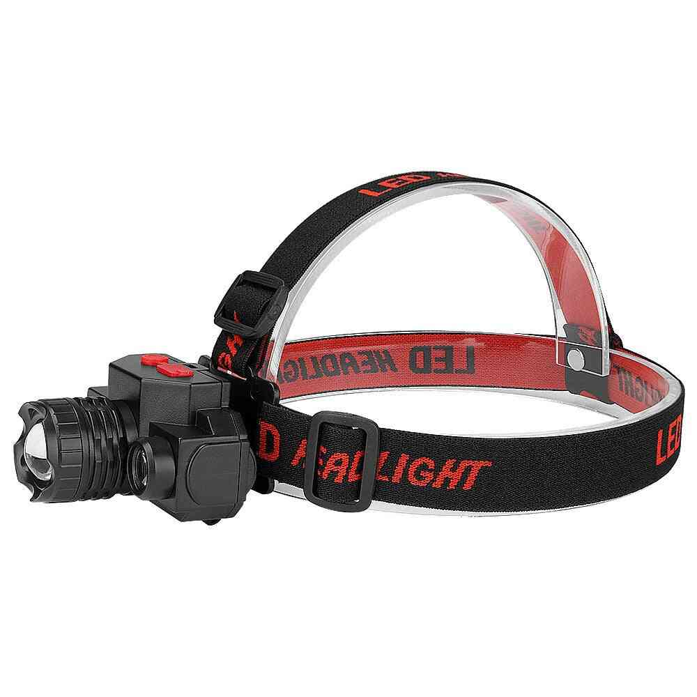 Portable T6 Cob Headlamps With 4 Modes-usb Rechargeable Handband Lights