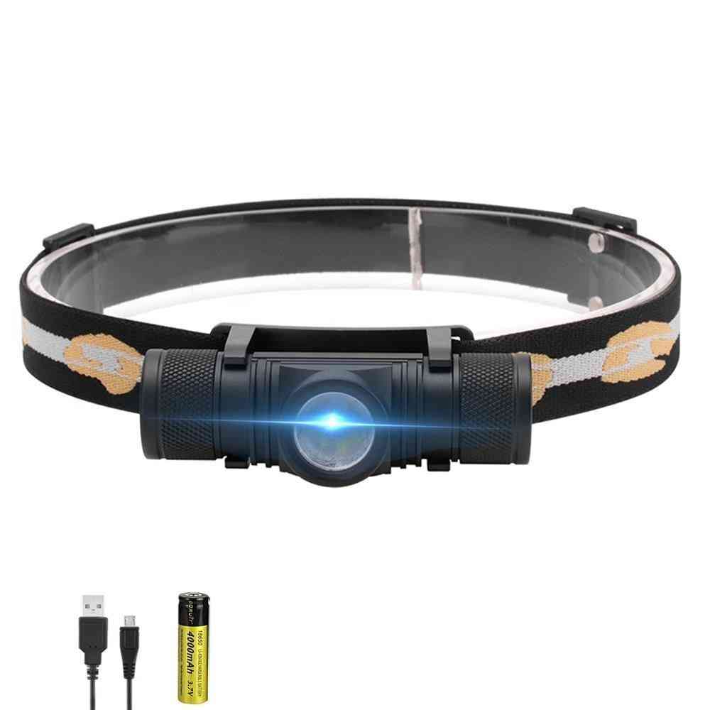 3000lumens Xm-l2 Led Headlamp With Usb Rechargeable Cycling Headlight