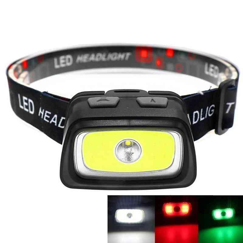 Portable Mini Cob+xpe Led Headlamp- Use 3*aaa Battery