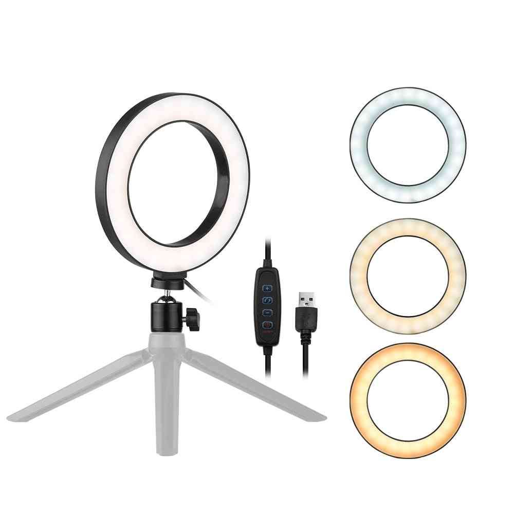 Led Selfie Ring Light Lamp For Photography Makeup