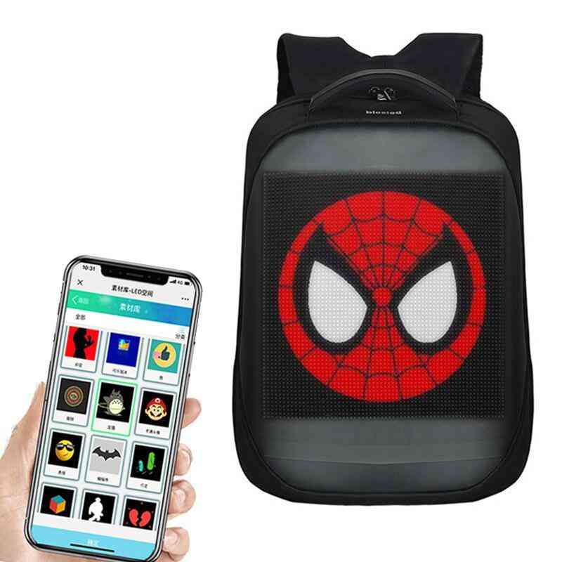 Wifi Smart Led Backpack With Lcd Screen And App Control