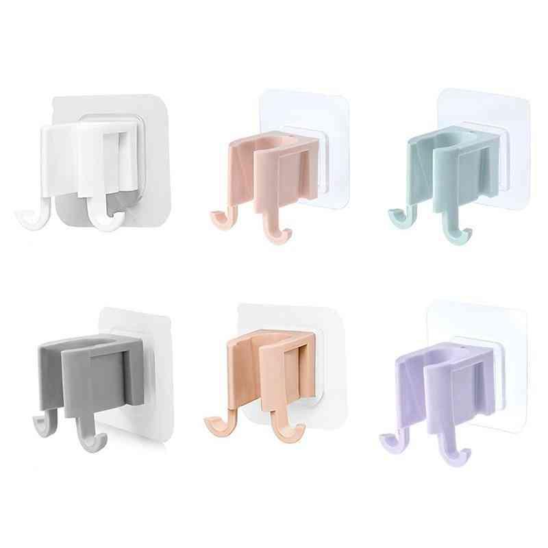 Portable Self Adhesive Sprinkler Shower Head Rack Holder Shelf