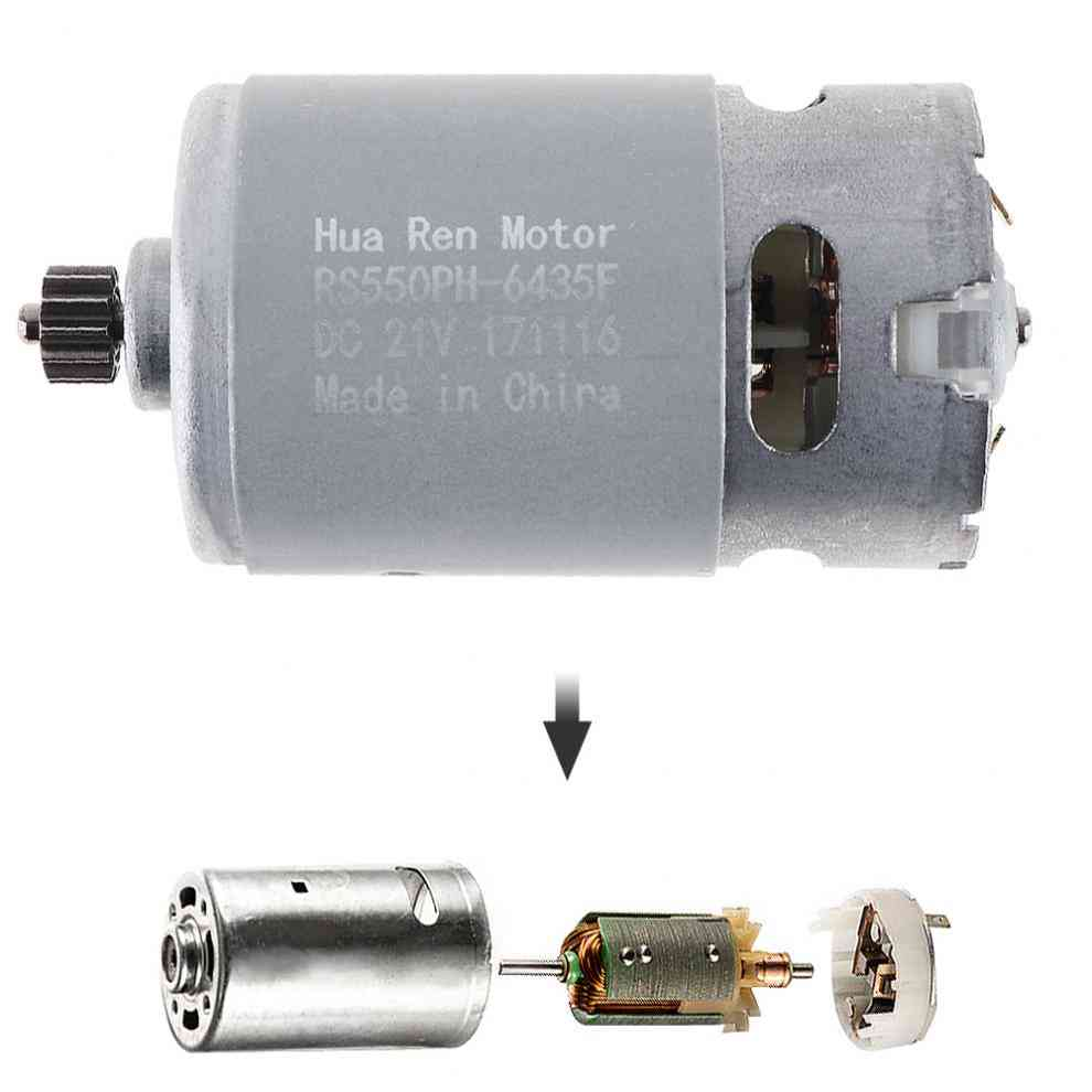 Rs550 12v/16.8v/21v/25v 19500 Rpm Dc Motor With Two-speed 12 Teeth And High Torque Gear Box