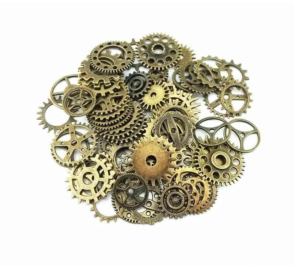 Charms Jewelry Cogs & Gears - Making Craft Arts Watch Parts Steampunk Cyberpunk