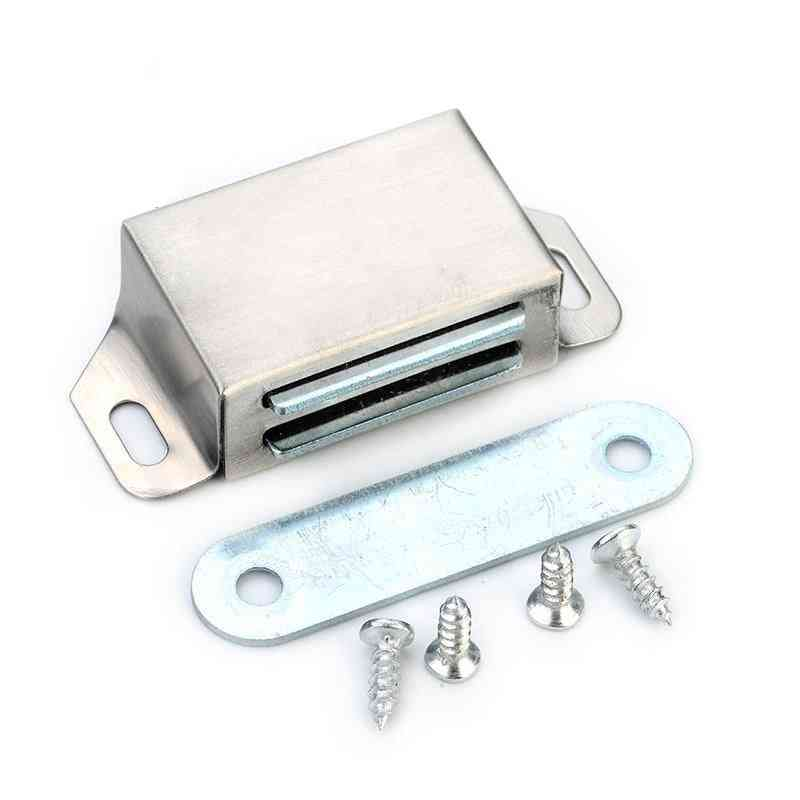 Stainless Steel Magnetic Cabinet Catches - Door Stop Damper Buffers With Screws