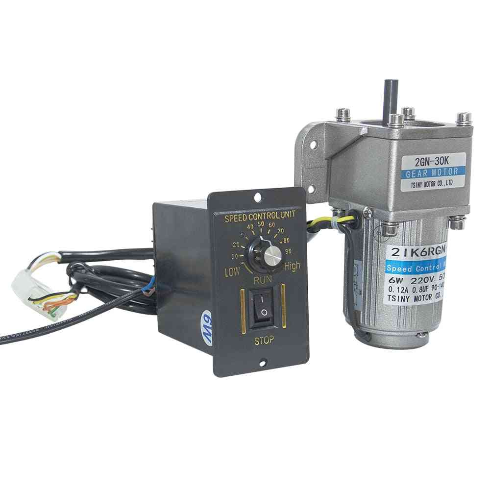 Ac Gear Motor With 2gn Gearbox - Bracket & Speed Controller
