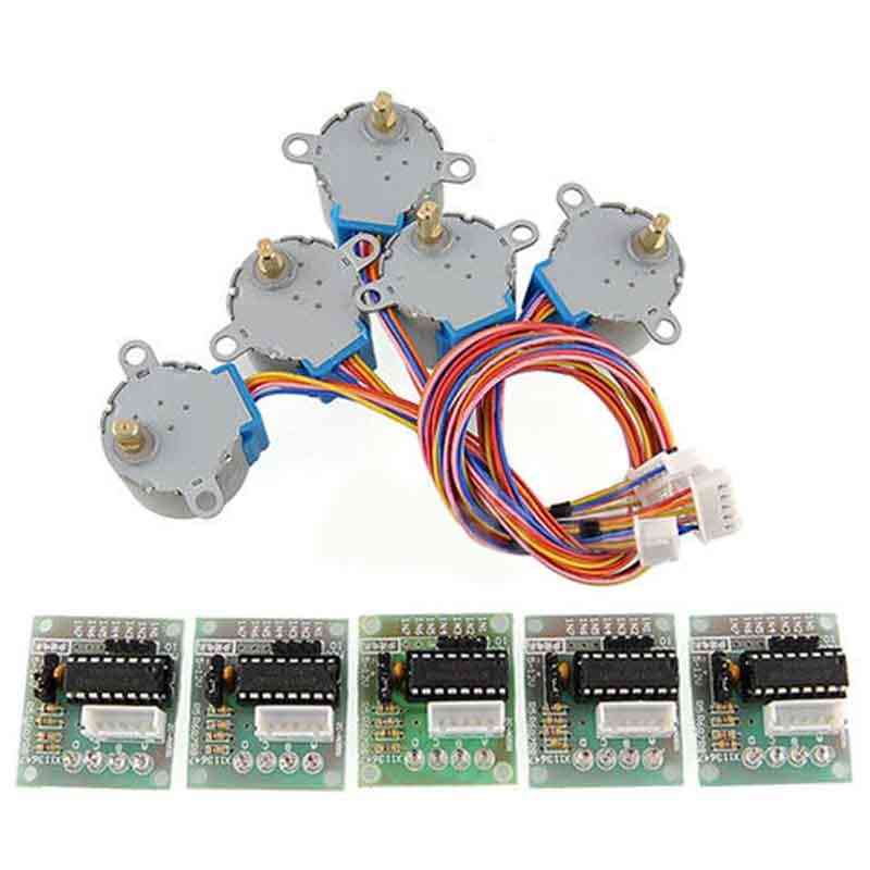 5pcs - 4 Phase Reduction Step Motor - Gear Stepper