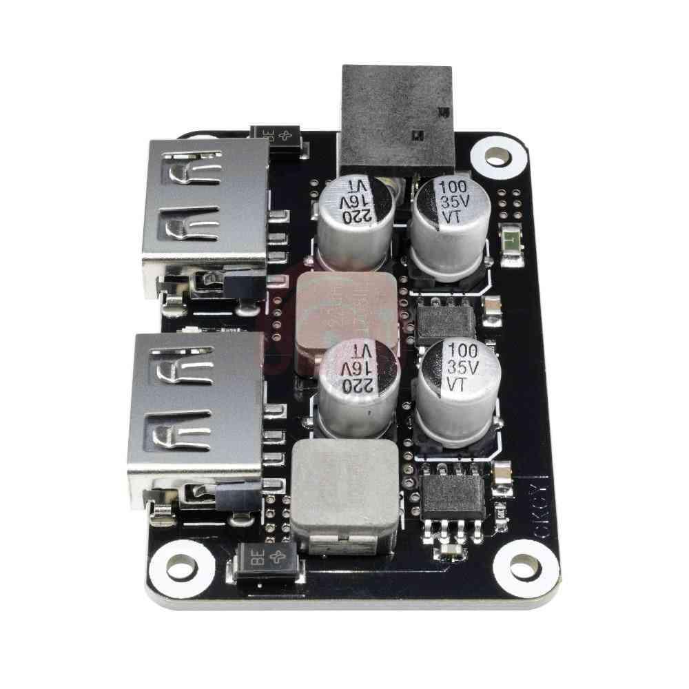 Dual 2 Double Usb Fast Charger Buck Module, Input 6v- 30v Single Port