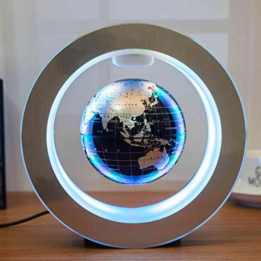 Round Led, World Map Floating Globe Magnetic Levitation Light, Anti Gravity