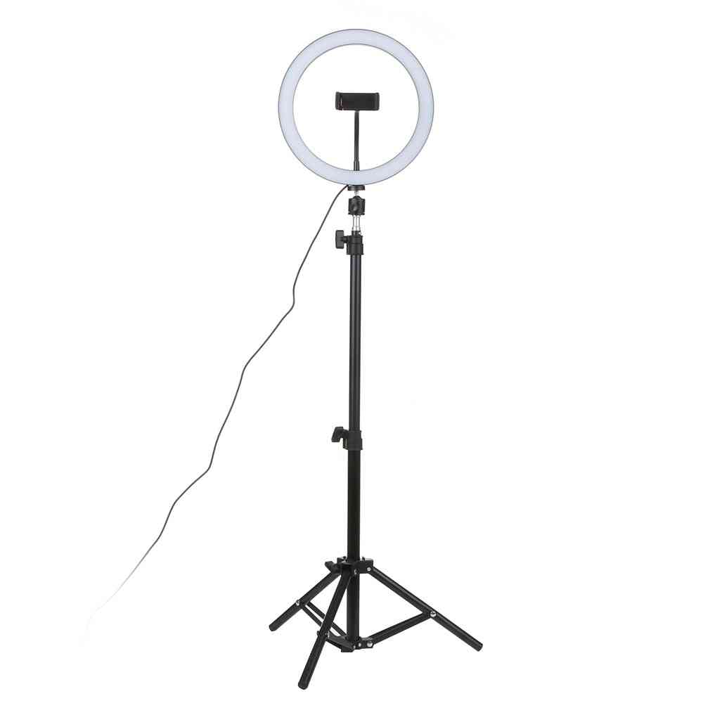 Led Studio Camera Ring Light -photo Phone Video Lamp With Tripods