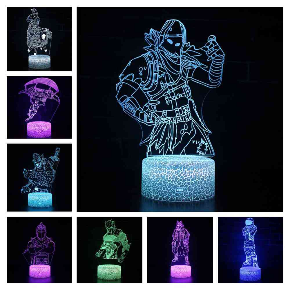 3d Stereoscopic Visual Pattern And Lighting Effects-led Night Lamp