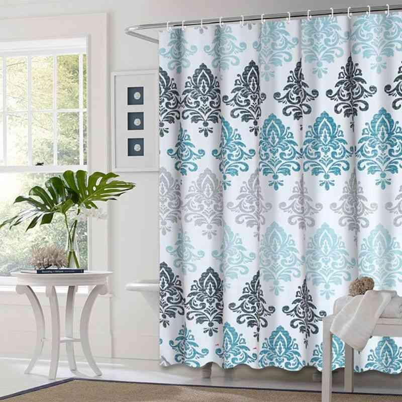 European Style Shower Bathroom Fall Curtains Waterproof Cloth
