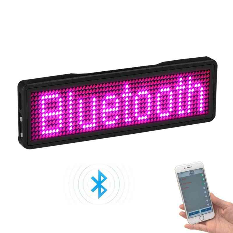 Bluetooth Programable Led Name Badge Case With Magnet And Pin
