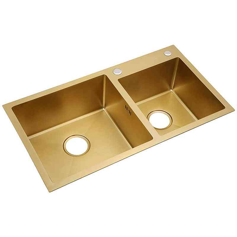 Steel Sink Above Counter With Strainer- Drain Hair Catcher