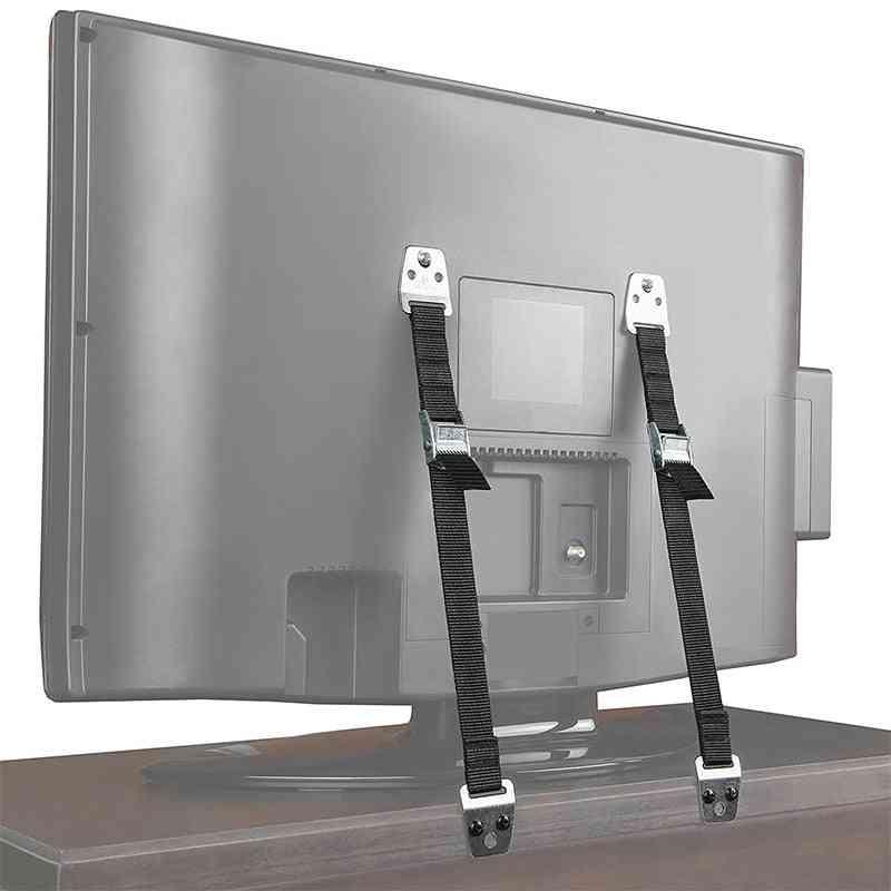 2pcs  Flat Screen Tv Saver Straps - Child Lock Protection