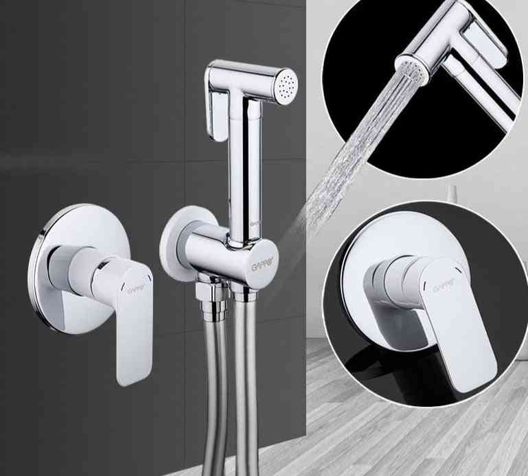 Shower Faucets - Brass Bathroom Bidet Toilet Sprayer