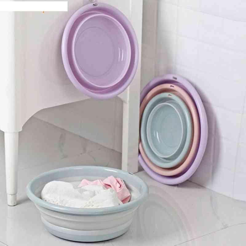 Portable Foldable Camping Round Bathroom For Laundry Washbasin
