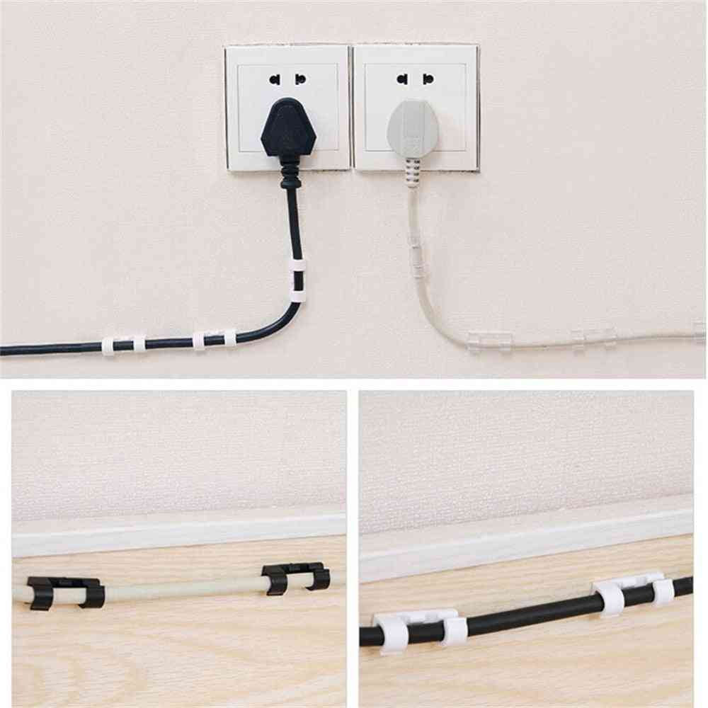 Ties Fixer Fastener Holder - Self-adhesive Wire Organizer Line Cable Clip Buckle