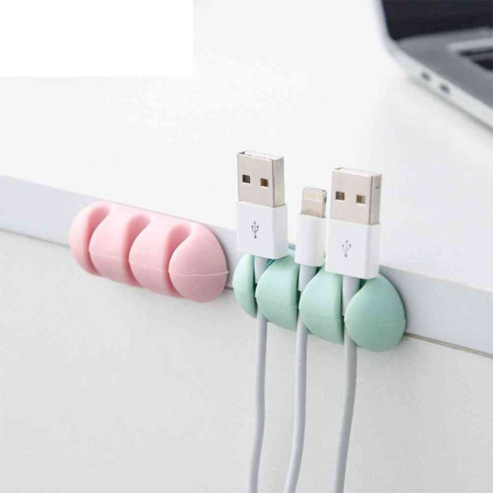 Self-adhesive Cable Mount Clips -table Organizer -wire Holder
