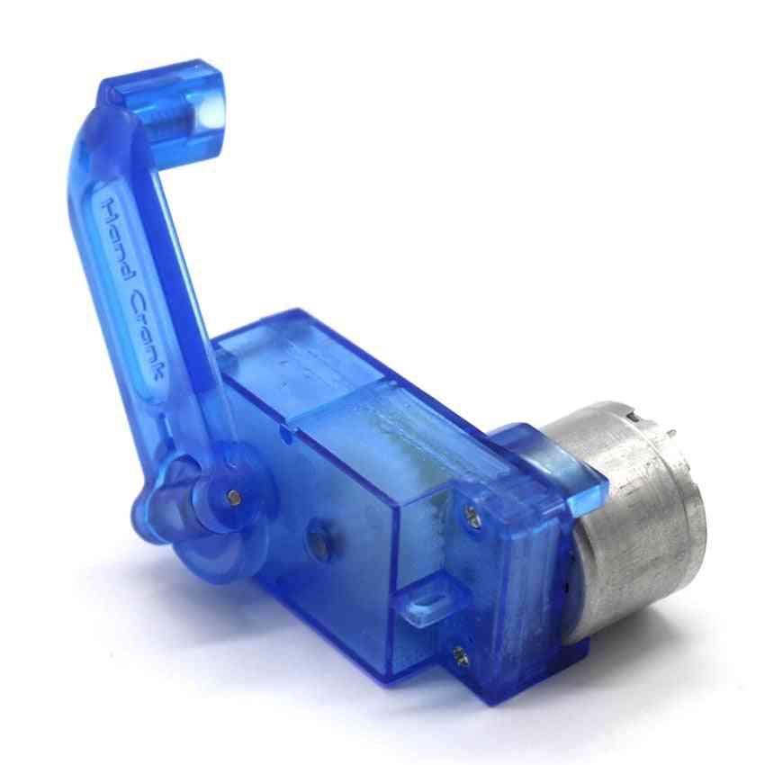 310 Hand Crank Generator For 3v Small Motor & Lighting Led Lamp