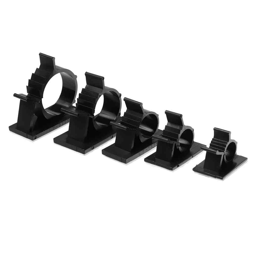 Self-adhesive Cable Clips - Plastic Buckle Line Management Fastener Practical Organizer
