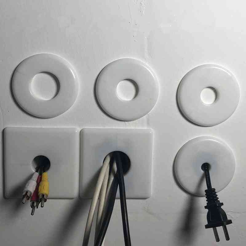 Plastic Wall Wire, Hole Cover Plate Base Plug -round Type Switch
