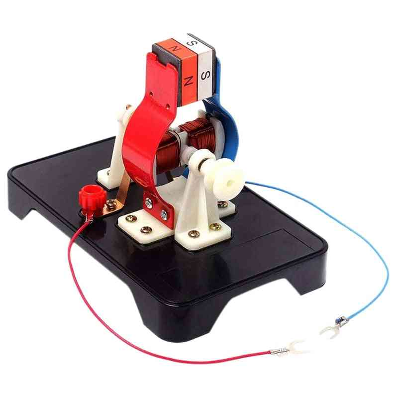Diy Simple Dc Electric Motor Model Assemble Kit -physics Science