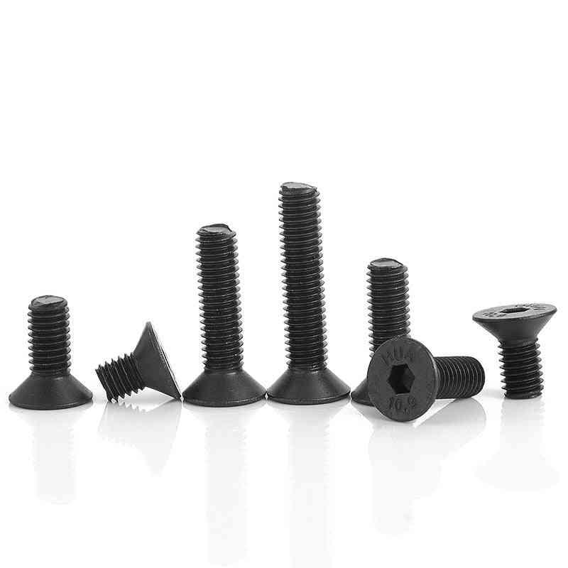 20/55pcs Carbon Steel Hexagon Socket- Flat Head Screw