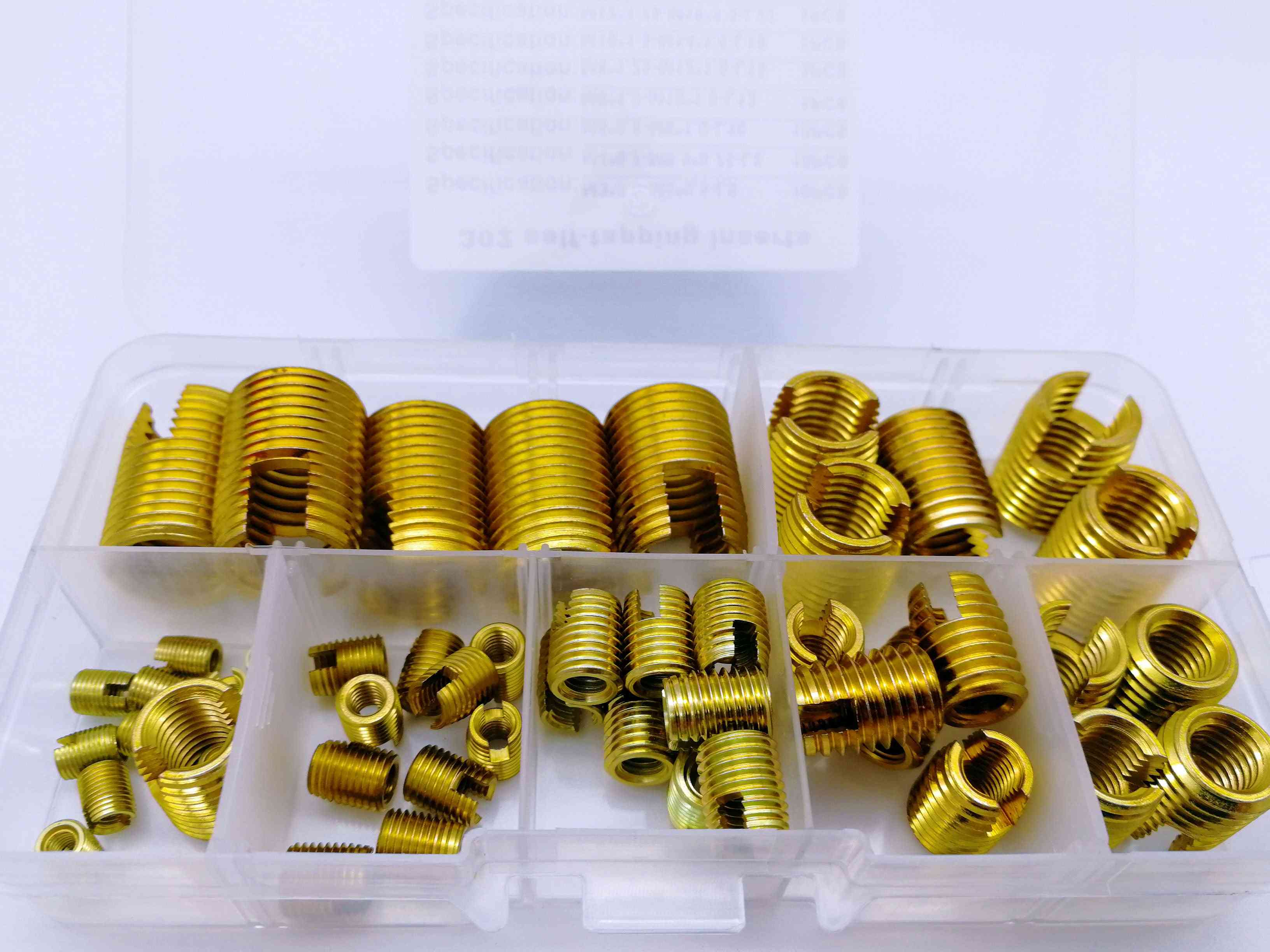 50pcs Of Self-tapping Threaded Insert Set