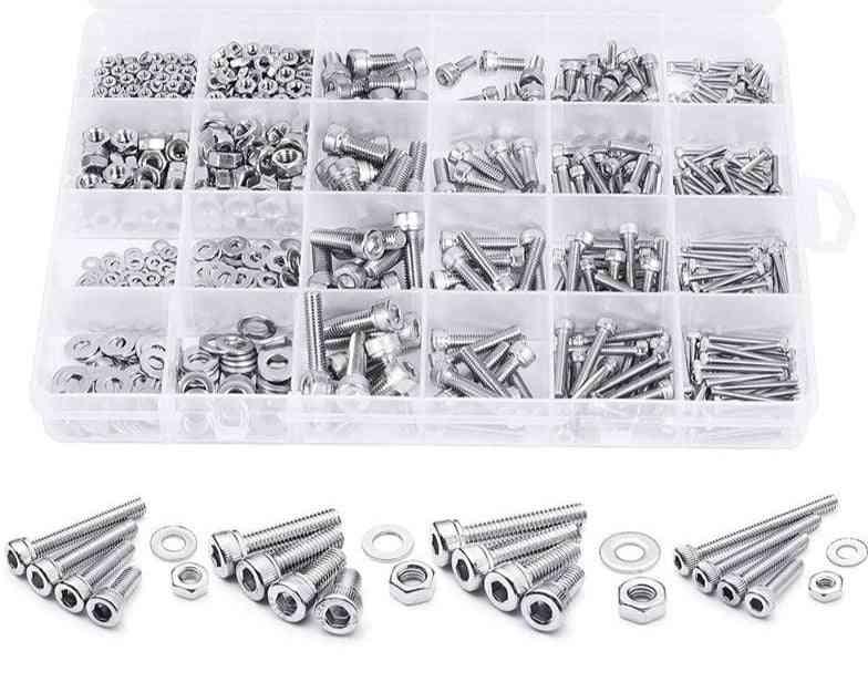880pcs  Stainless Steel ,hex Head Screw Kit Assortment