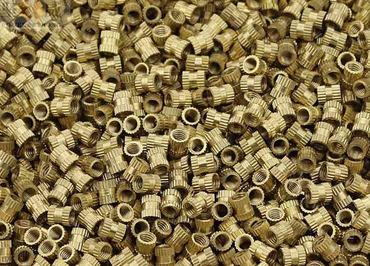 100pcs M2 /m2.5 /m3 Copper Inserts, Double Pass Knurl Nuts
