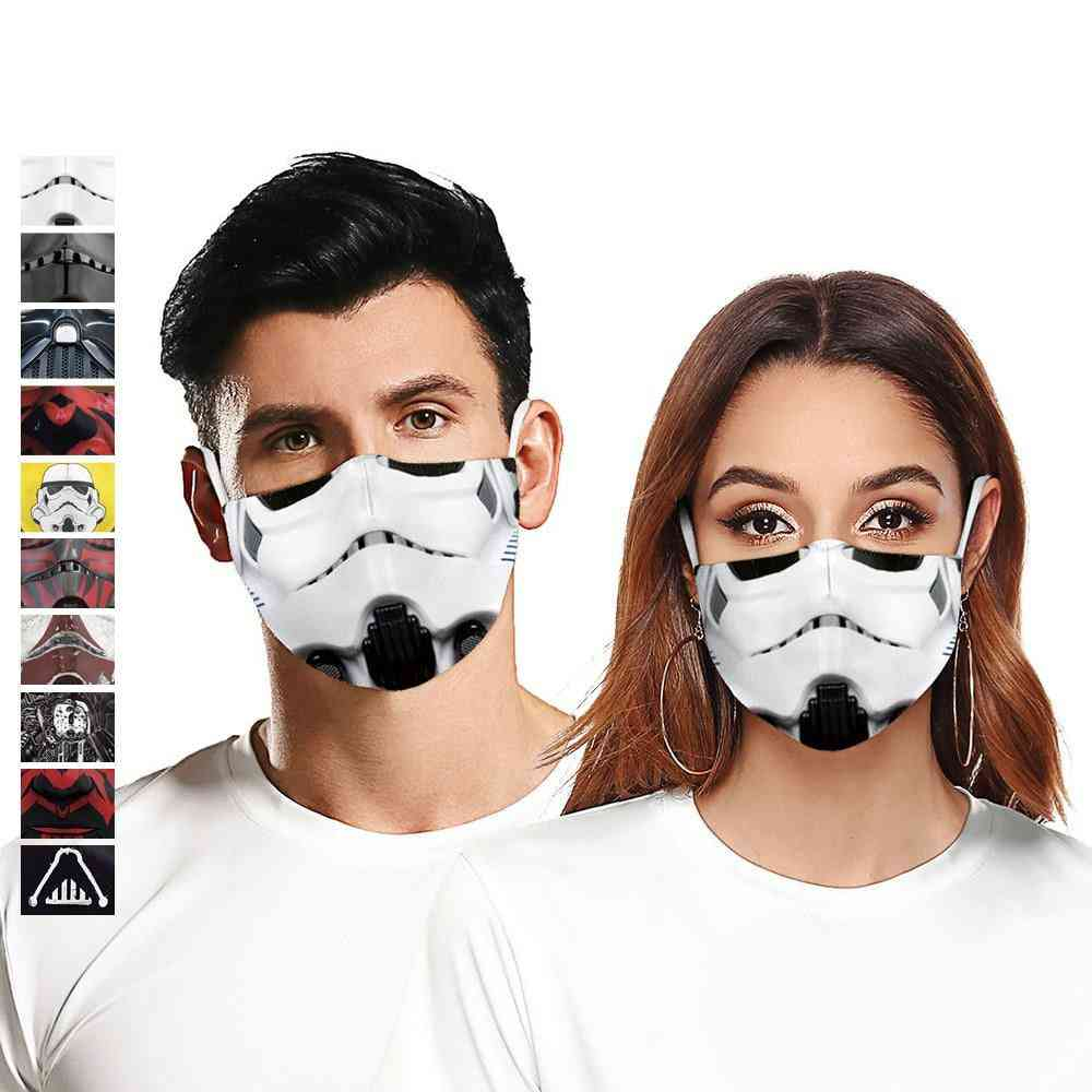 Classic Movie Star, War Cosplay Printed-3d Face Mask For Adults And Kids