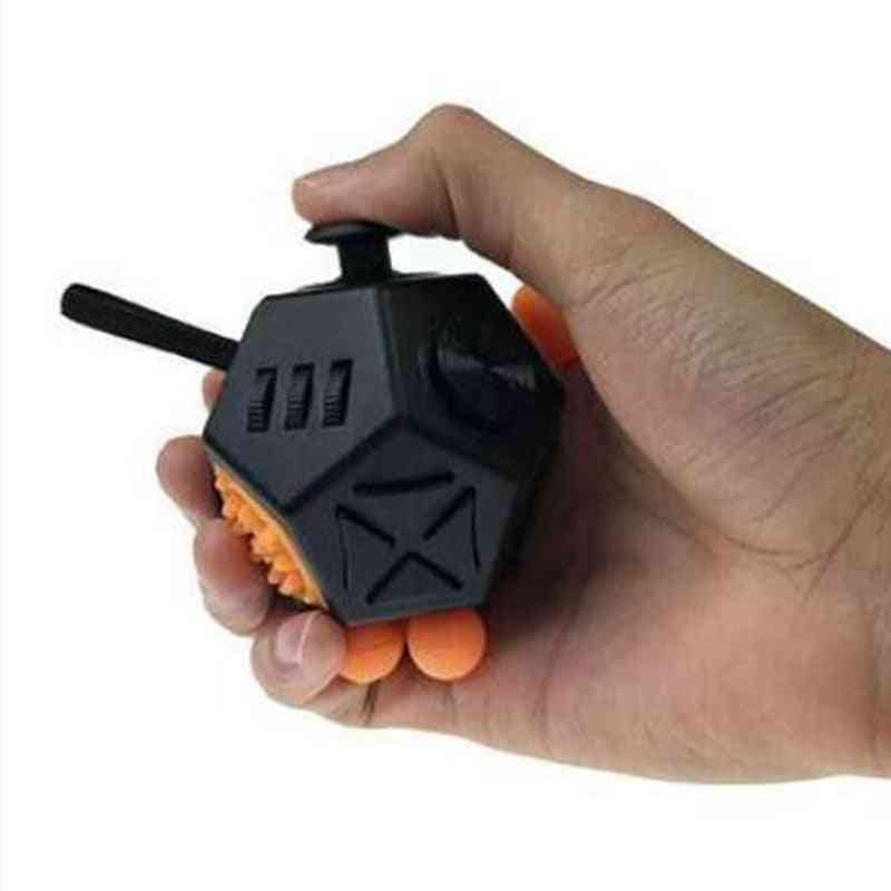Antistress Cube 12 Ways Sides For Office - Finger Movement Dice Anxiety Reliever Puzzle