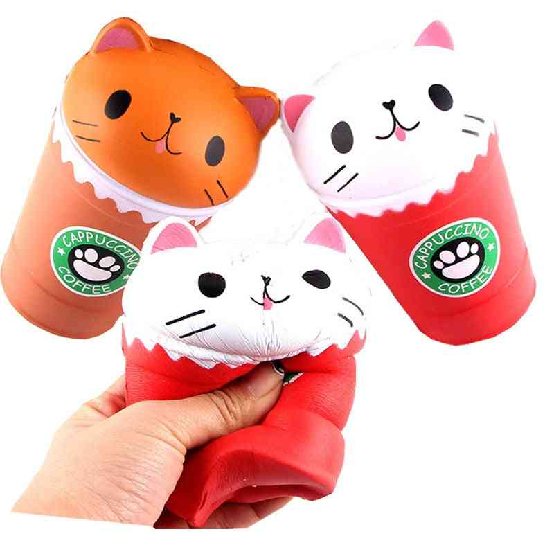 Slow Rising Jumbo Scented Cappuccino Coffee Cup Cat For /