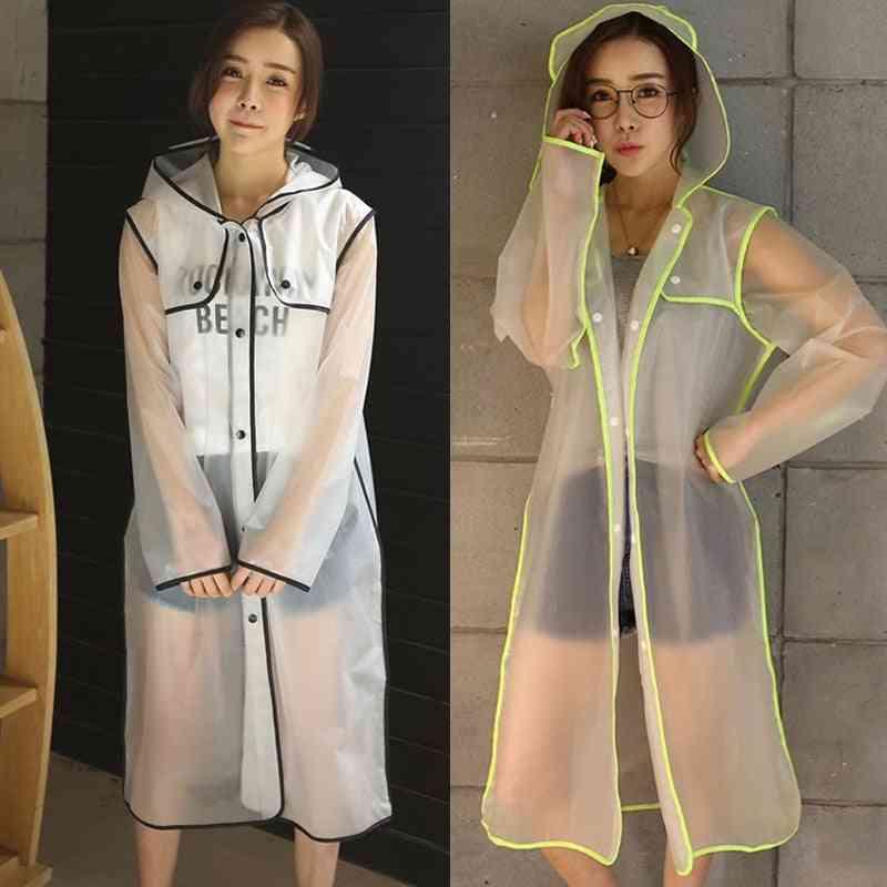 Women's Transparent Eva Plastic Raincoat