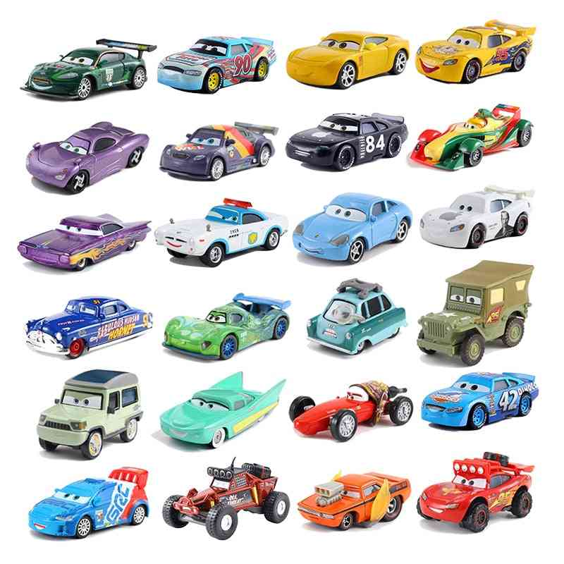 Disney Pixar Cars - 3 Lightning, Mcqueen, Storm,metal Alloy Toy